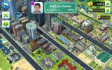 SimCity: BuildIt Android Visiting a fully developed city (Dutch version).
