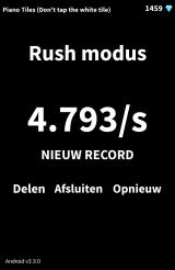 Piano Tiles (Don't Tap The White Tile) Android Speed in the Rush mode (Dutch version)
