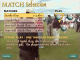 British Open Championship Golf Windows Match menu. Set up a specific kind of match, and pick a set of holes to play.