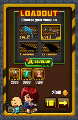 Redhead Redemption Android Define the load before starting a level: weapons and power-ups.