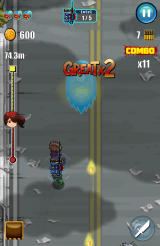 Redhead Redemption Android Using a speed boost power-up.