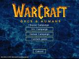 WarCraft: Orcs & Humans Macintosh Main menu - campaign selection