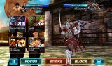 Tekken: Card Tournament Android Each character has two cards. Choose on of the three actions at the bottom.