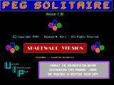 Peg Solitaire DOS The game's title screen