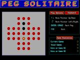 Peg Solitaire DOS The layout of Peg Solitaire.