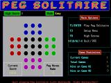 Peg Solitaire DOS The start of a Colour Peg game in Easy mode. This game is being played with the mouse