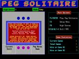 Peg Solitaire DOS The game is shareware. 