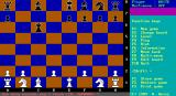 PowerChess DOS The game communicates with the player by putting messages on the bottom line.