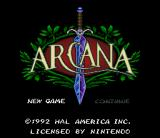 Arcana SNES Title screen