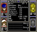 Arcana SNES Character screen