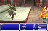 Final Fantasy V Advance Game Boy Advance Fighting Ifrit in the library