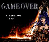 Arcus Odyssey SNES Game over, but at least you can see this sexy girl...