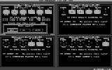 Frazzle! DOS The game can be played by four players and in monochrome. Here's what such a game looks like.