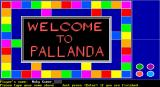 Pallanda DOS The game's title screen.