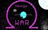 Omega War! DOS The game's title screen