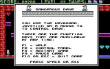 Dangerous Dave in the Deserted Pirate's Hideout! DOS F1 brings up the in-game help screens