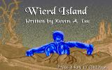Weird Island DOS After answering some configuration questions the game begins.