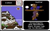 Where in Europe is Carmen Sandiego? Commodore 64 The suspect has been caught and has been found guilty!