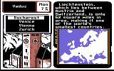 Where in Europe is Carmen Sandiego? Commodore 64 Travel map.