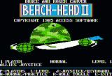 Beach-Head II: The Dictator Strikes Back Apple II Title screen with options