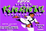 World Karate Championship Apple II Title screen