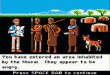 Dr. Livingstone, I Presume? Apple II Encountering angry Masai
