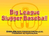 Big League Slugger Baseball PlayStation Title screen.