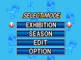 Big League Slugger Baseball PlayStation Select mode.