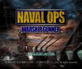 Naval Ops: Warship Gunner PlayStation 2 The game's title screen follows a short animation