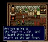 Brain Lord SNES Talking to the blacksmith