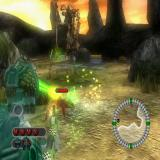 Bionicle Heroes PlayStation 2 The green laser thing is the game's targeting system. It automatically locks onto the nearest target which is handy