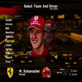 Formula One 2001 PlayStation 2 The team selection screen. 