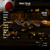 Formula One 2001 PlayStation 2 The circuit selection menu.