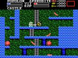 Knightmare II: The Maze of Galious MSX Enemies drop coins too