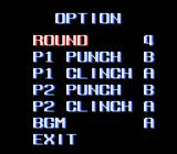 TKO Super Championship Boxing  SNES Option (Japanese version). Unlike the western versions, there is no difficulty level.