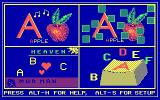 ABC Fun Keys DOS The main menu.