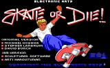 Skate or Die DOS Title Screen
