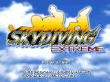 Skydiving Extreme PlayStation Title screen (US).
