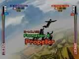 Skydiving Extreme PlayStation England stage. Formation 4. Propeller.