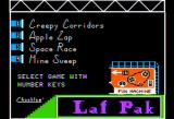 Laff Pack Apple II menu screen