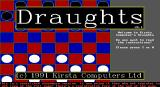 Draughts DOS The game's title screen