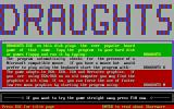Draughts DOS This is how the game was presented in Kirsta's shareware showcase