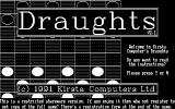 Draughts DOS The game has a command line option to play in monochrome.