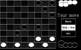 Draughts DOS This is how the monochrome game looks
