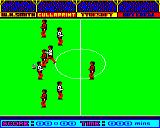Goal! BBC Micro One player tries to win the ball, the others just stand completely still