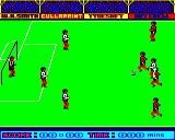 Goal! BBC Micro Getting closer to goal, my team mates have magically teleported themselves to defensive positions. Still not doing anything though.