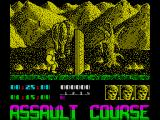 Assault Course: Combat Academy ZX Spectrum First obstacle