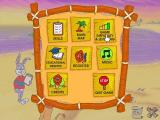 Reader Rabbit Maths Ages 6-8 Windows Throughout the game there's a wooden cross in the lower right corner, it opens up this options screen