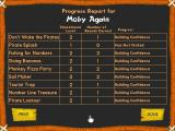 Reader Rabbit Maths Ages 6-8 Windows The pupil's progress report