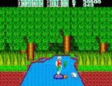 Captain Silver SEGA Master System Using a turtle to cross the river